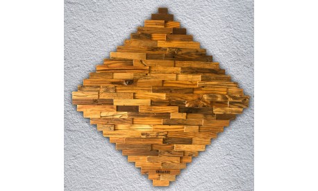 Wall decoration panel carved pine wood panel - Made of real wood -Unique product