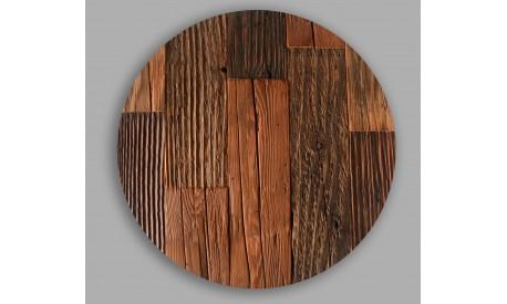 Rustic antique pine wood placemat placemats circle- Set of - 4 Unique product