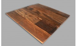 Rustic antique pine wood placemat placemats rectangle - Set of 4- Unique product