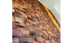 Intarzi Walnut 3D Wall Panel 1m²
