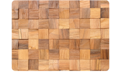 Splitted, steamed walnut wood square shaped wall panel