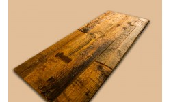 Antique pine wall panel with soft 3D effect