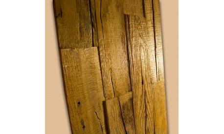 Vintage antique oak wood 2D wall panel