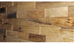 Intarzia Antique Oak 3D Wall Panel 1m²